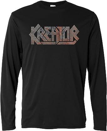 LaMAGLIERIA Camiseta de Manga Larga Hombre - Kreator Texture - Long Sleeve Metal Rock 100% algodòn: Amazon.es: Ropa y accesorios