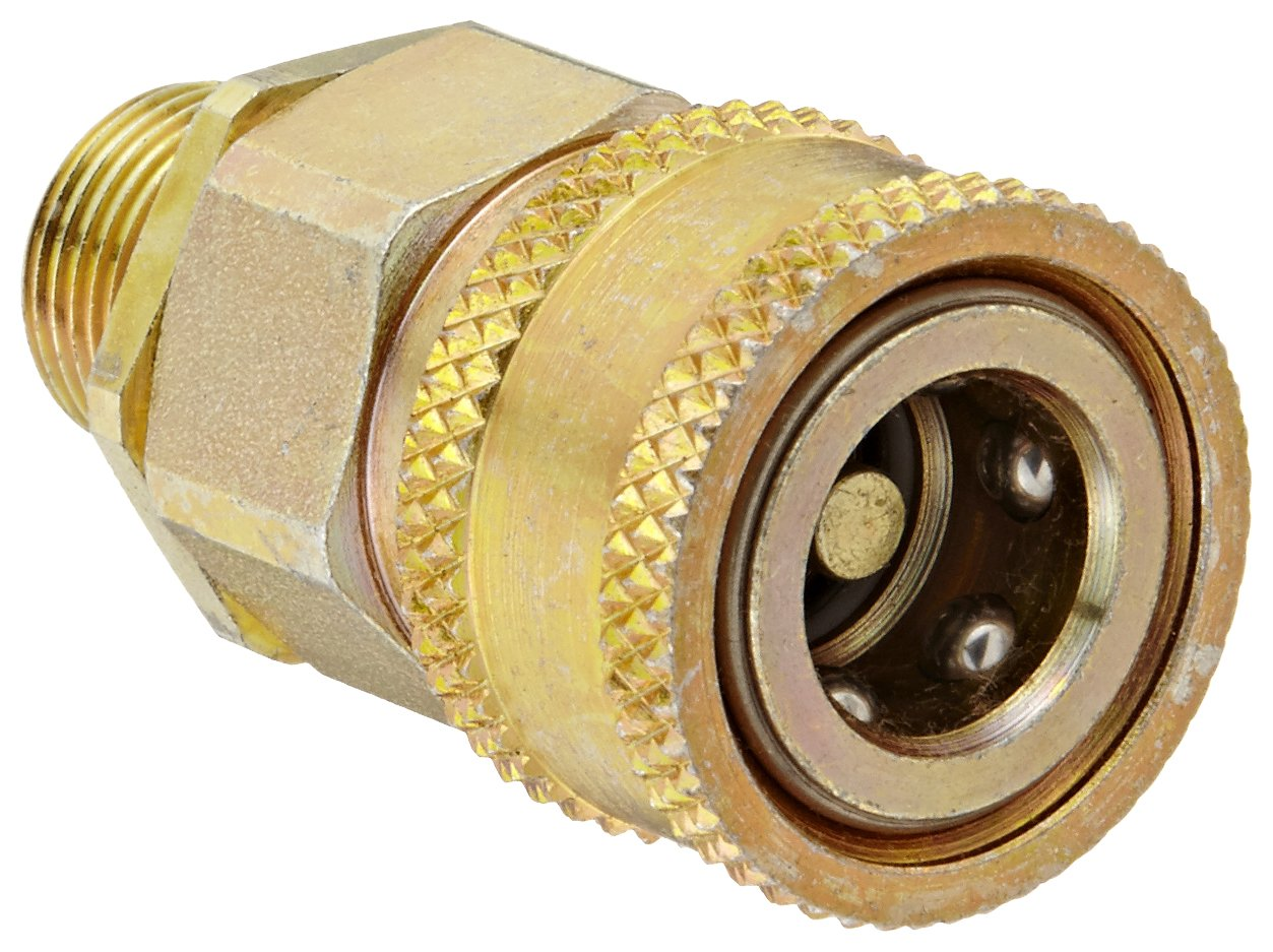 Sleeve-Lock Socket 3//8 NPTF Male x 3//8 Coupling Size 3//8 NPTF Male x 3//8 Coupling Size Snap-Tite VHC6-6M Zinc-Plated Steel H-Shape Quick-Disconnect Hose Coupling