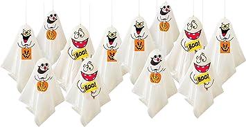 12 Lustige Gespenster Als Gruselige Halloween Deko Hangende Geister Party Dekoration Fur Innen Aussen Amazon De Spielzeug