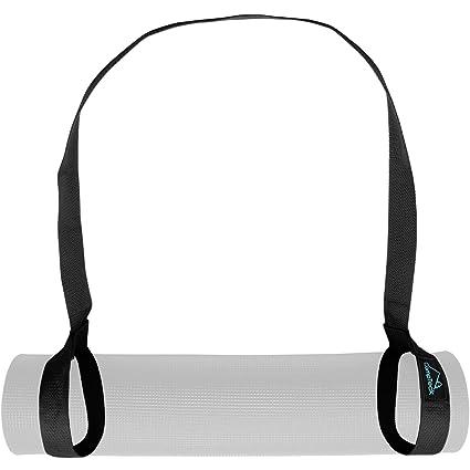 CampTeck Correa Esterilla Yoga Poliéster 180cm x 3,8cm Eslinga Adjustable para Hombro, Pilates, Yoga, Ejercicios, Aeróbica, Colchoneta Fitness para ...