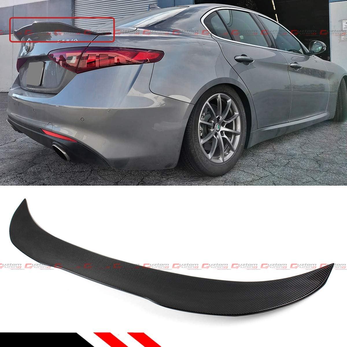 Cuztom Tuning Fits for 2017-2020 Alfa Romeo Giulia Quadrifoglio PSM Highkick Duckbill Carbon Fiber Trunk Lid Spoiler Wing CF
