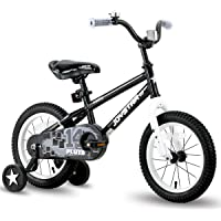 JOYSTAR Pluto Kids Bike with Training Wheels for 12 14 16 18 inch Bike, Kickstand for 18 inch Bicycle (Black Blue Red…