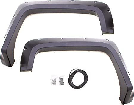 Lund RX111S Elite Series Black Rivet Style Standard Front and Rear Fender Flare 4-Piece