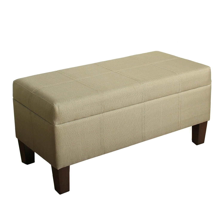 Kinfine Lift Top Faux Leather Storage Bench, Brown K3433-E208