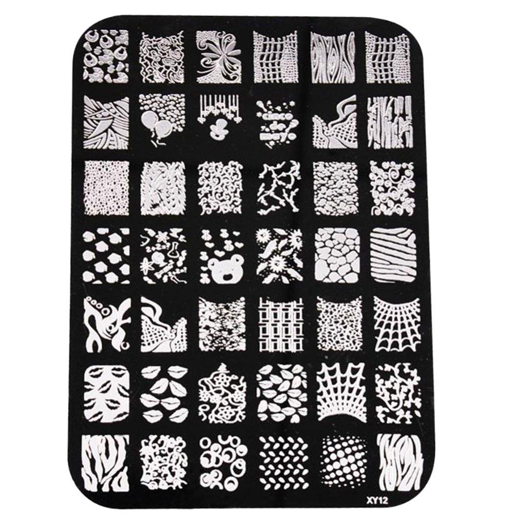 Hosaire Moda Imagen de placa de impresión estampación sellos placa manicura Nail Art decoración de uñas size Style A