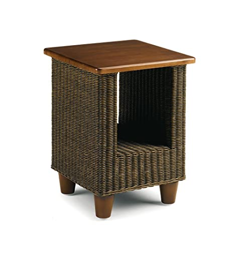 Wicker lamp table conservatory furniture wooden top cane wicker lamp table conservatory furniture wooden top cane brown bude aloadofball Images