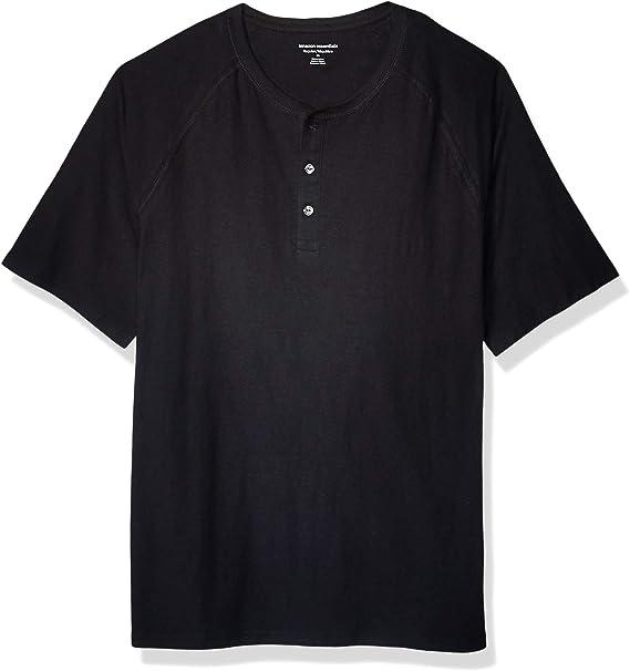 Amazon Essentials Men's Regular-Fit Short-Sleeve Slub Henley T-Shirt