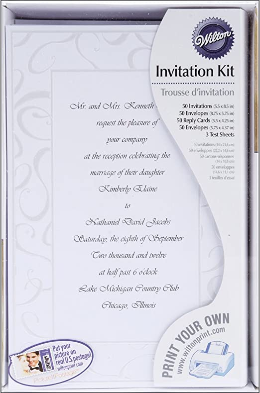 Wilton Elegant Swirls Wedding Invitation Kit