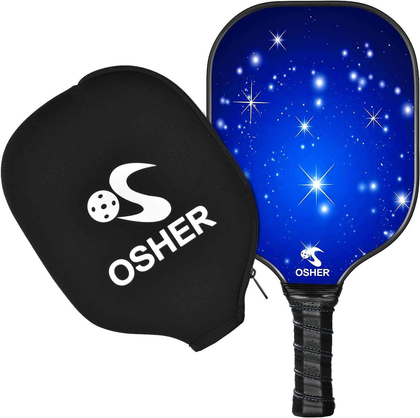 OSHER Graphite Pickleball Racket Honeycomb Composite Core Pickleball Paddle Set Ultra Cushion Grip Low Profile Edge Bundle Graphite Pickleball Paddles ...