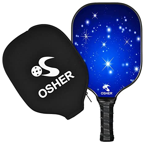 OSHER Pickleball Paddle Graphite Pickleball Racket Honeycomb Composite Core Pickleball Paddle Set Ultra Cushion Grip Low