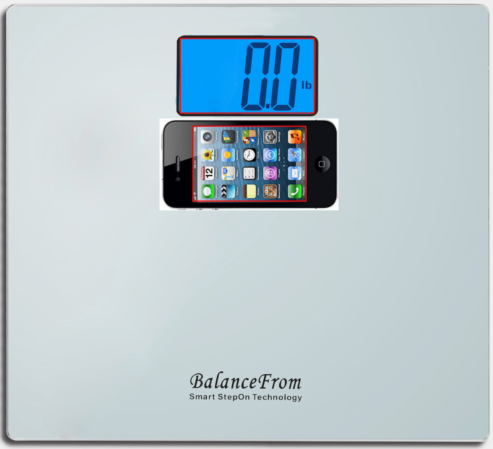 BalanceFrom High Accuracy Digital Bathroom Scale with Large Backlight Display and''Step-On'' Technology [Newest Version] (Silver) by BalanceFrom (Image #2)