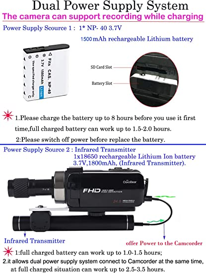 OsxoBear night vision camcorder product image 2