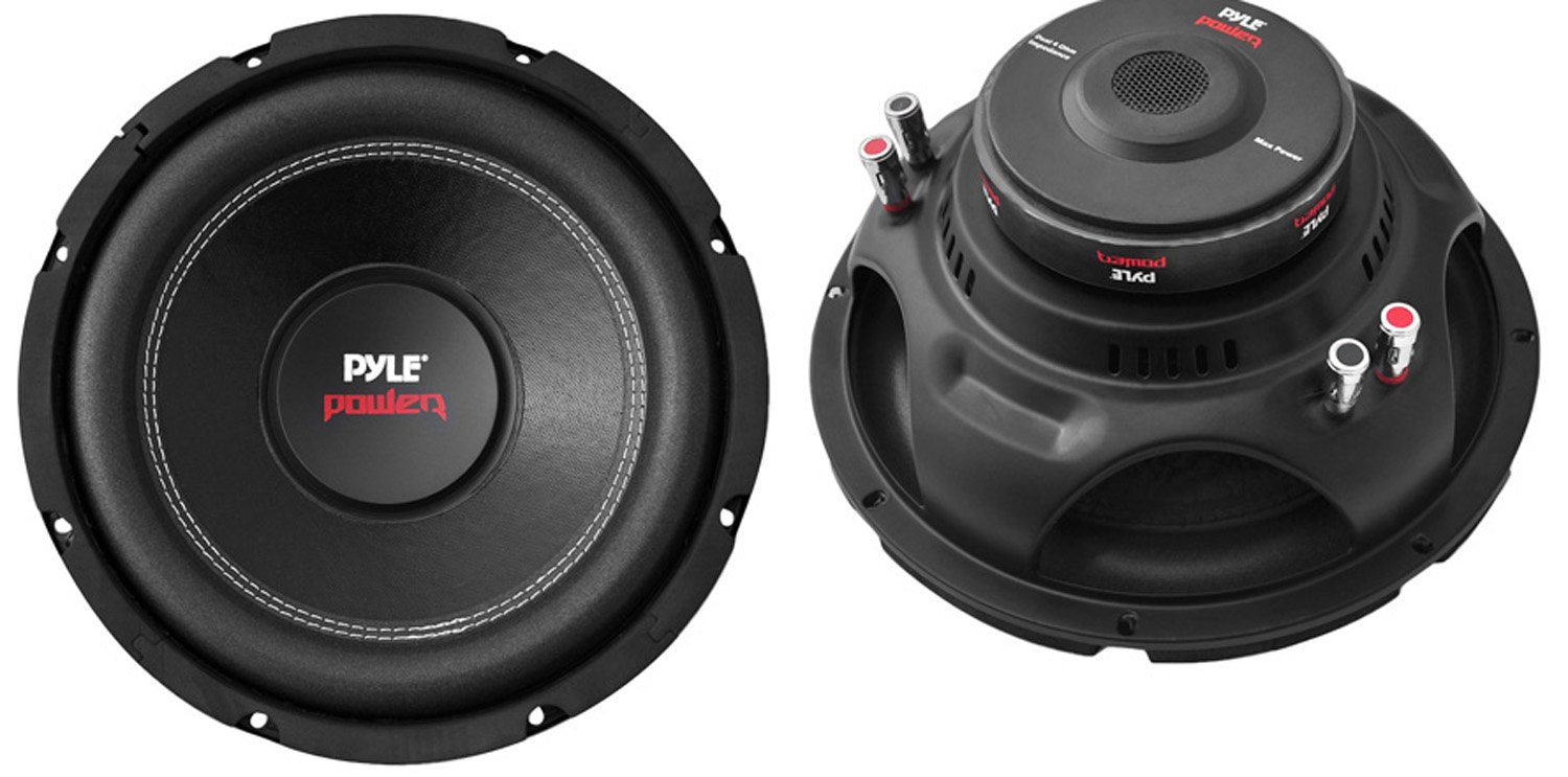 2) Pyle PLPW10D 10'' 2000W Car Subwoofer Audio Power Subs Woofers DVC 4 Ohm Black