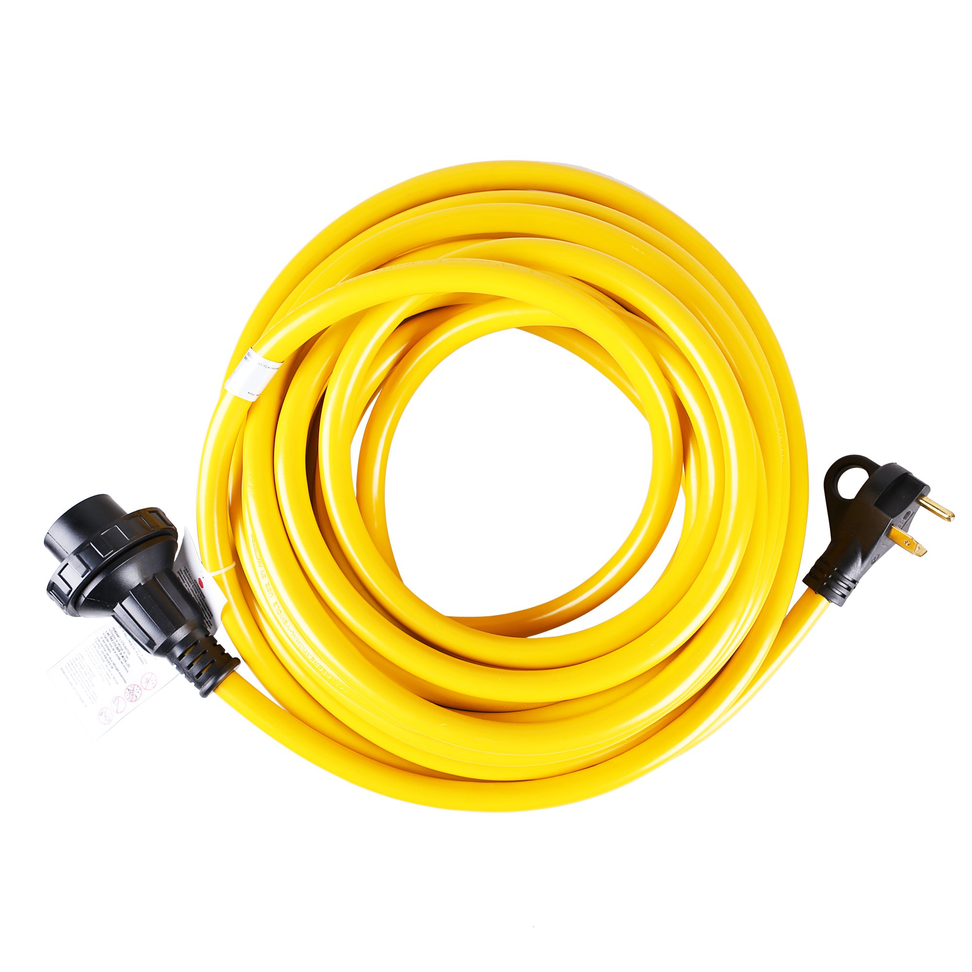 50' 30 Amp 3 Wire RV Twist Lock Power Cords Electrical with Finger Grip(50ft)