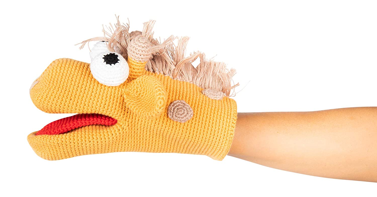 Concept baby gifts Giraffe Hand Puppet Handmade Organic Cotton Without Any Harmful Detachable Parts Made in Turkey