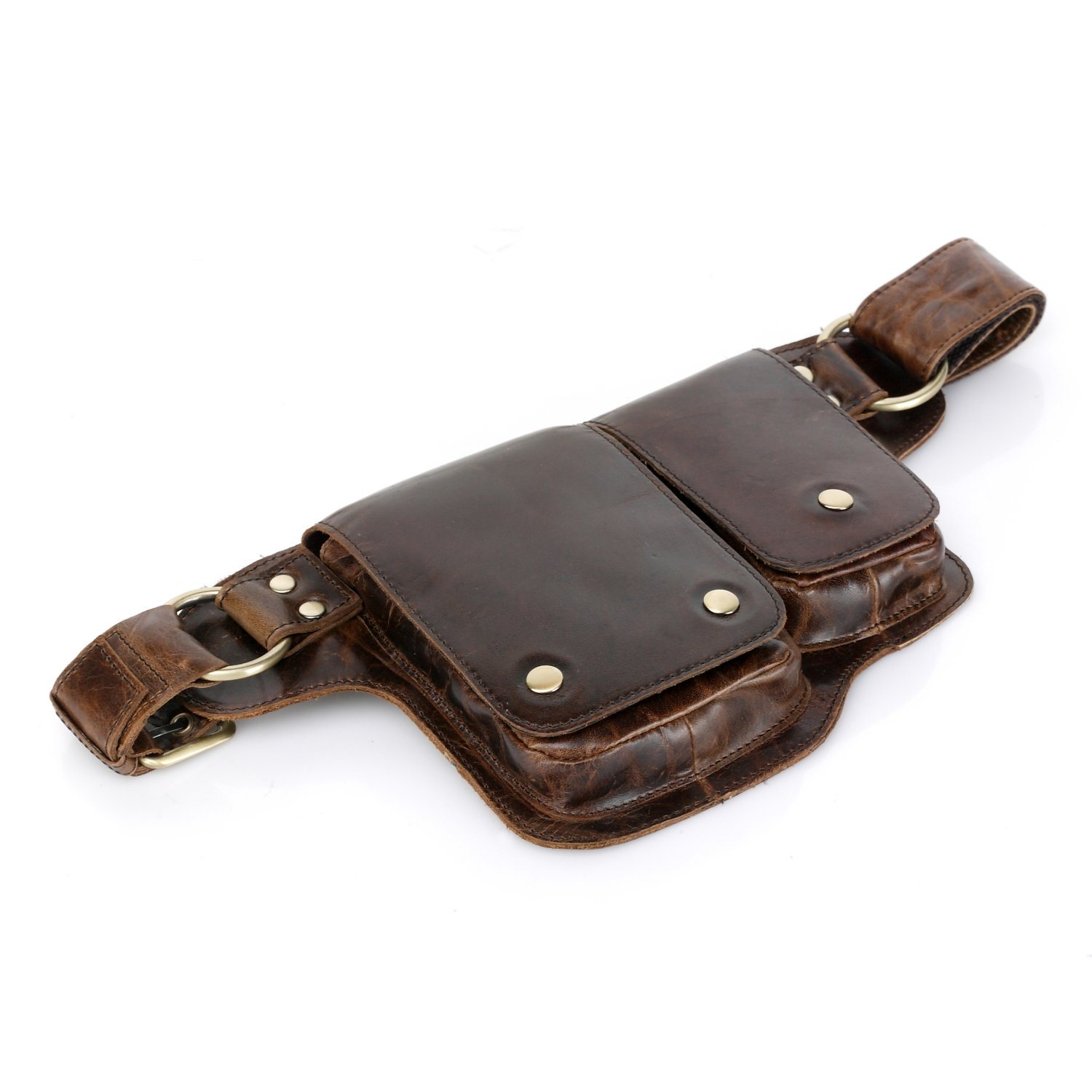Vicenzo Leather Adonis 2 Leather Waist Pack Hip Purse