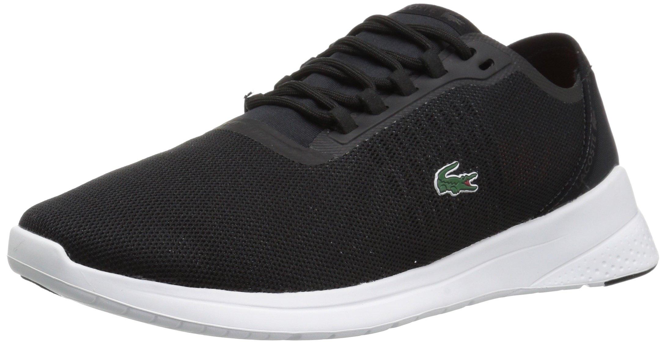 Lacoste Women's Lt Fit 118 4 Spw Sneaker, Black/Dark Grey, 10 M US