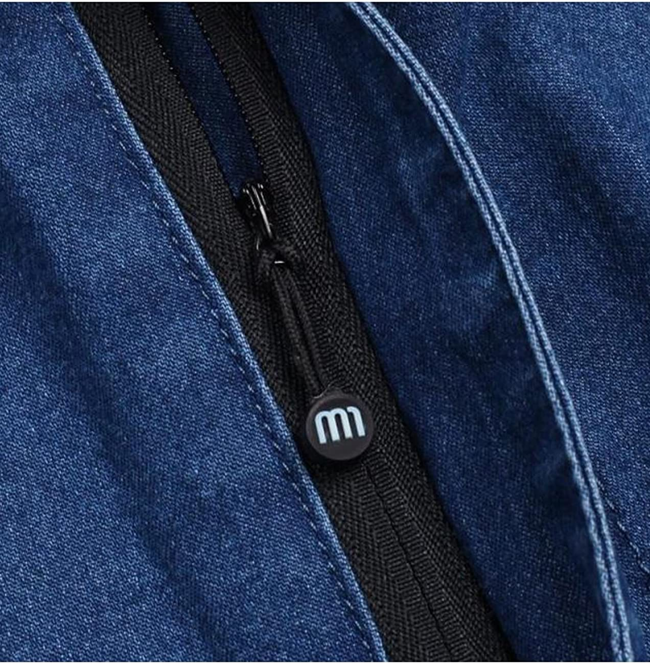 Zoulee Mens Full Elastic Waist Denim Pull On Jeans Straight Trousers Blue 36