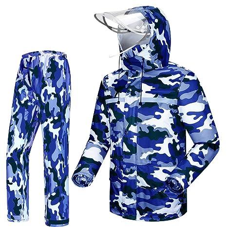 Tianwang Skynet Rain Suit Jacket /& Trouser Suit Raincoat Unisex Outdoor Waterproof Anti-storm XXL, black