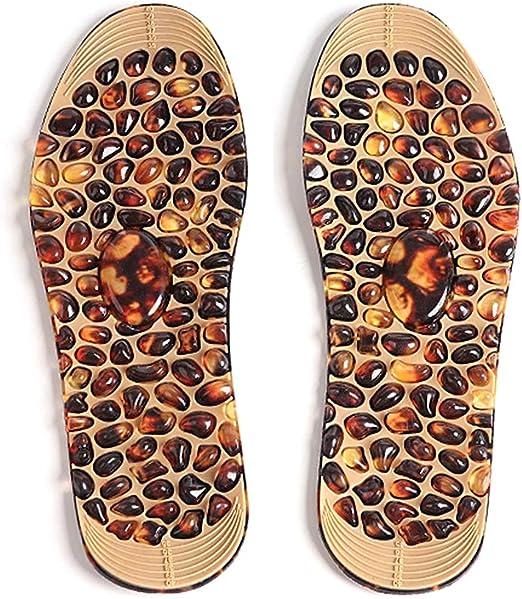 SimpleLifeマッサージシューズパッド、1ペアコブルストーンマッサージインソールフットリラックス男性女性インソール足減圧靴パッド