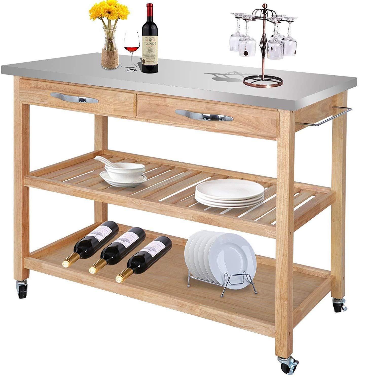 Amazon.com: Cypressshop - Carrito de cocina para cocina ...