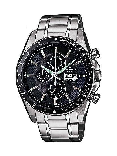 CASIO Edifice EFR-502D-8AVEF - Reloj analógico de cuarzo con correa de  acero inoxidable para hombre (cronómetro 4a9ad7f90b2f