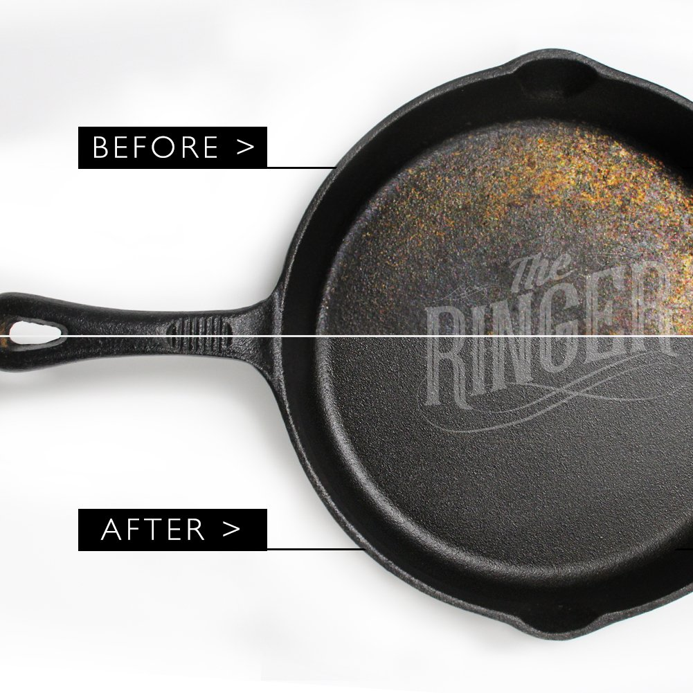 The Ringer - The Original Stainless Steel Cast Iron Cleaner, Patented XL 8x6 inch Design by The Ringer (Image #7)