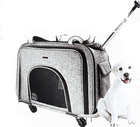 Cutepet Transportín Carrito Multiusos Mochila De Viaje Nylon para Perros Gatos Y Otros Animales Pequeños 2 En 1 Mochila Carrito 58 * 38 * 32 Cm,Gray: Amazon.es: Deportes y aire libre