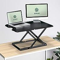 Zinus Tina Smart Adjustable Sit Stand Desk Riser Standing Desk Laptop