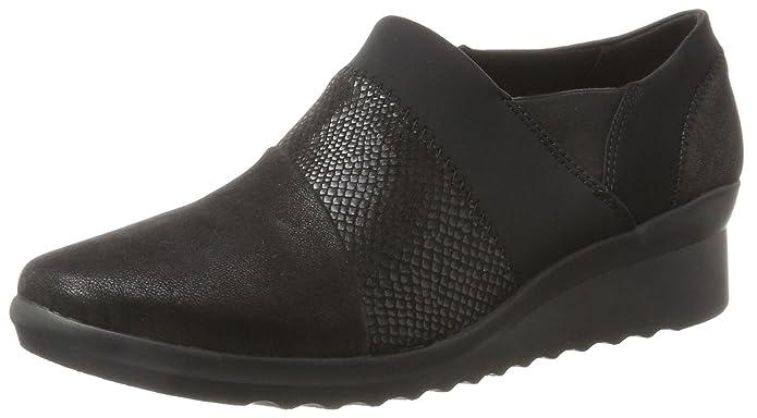 Clarks 261293684, Zapatos sin Cordones Mujer, Negro (Black), 37.5 EU