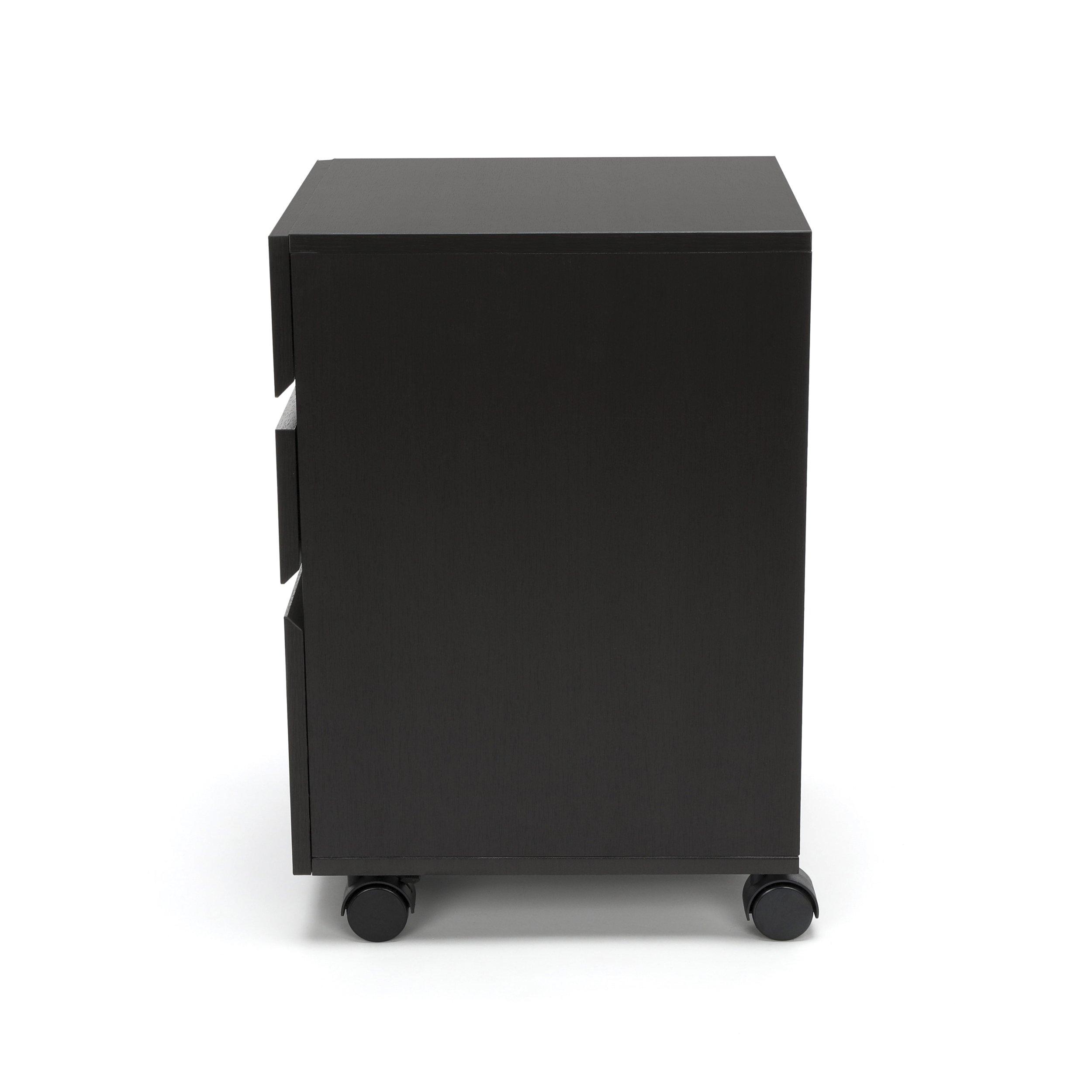 Essentials File Cabinet - 3-Drawer Wheeled Mobile Pedestal Cabinet, Espresso (ESS-1030-ESP) by OFM (Image #4)