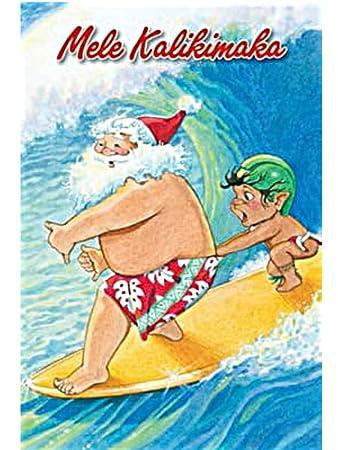 Mele Kalikimaka Christmas Cards.Amazon Com Hawaiian Christmas Cards Mele Kalikimaka