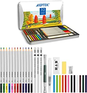 Amazon.com : Watercolor Pencils, AGPtEK 32 Watercolor ...