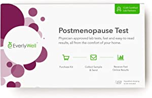 Everlywell Postmenopause Test - at Home - CLIA-Certified Adult Test - Discreet, Accurate Saliva Analysis - Results Within Days - Measures Estradiol and Progesterone - Not Available in RI, NY, NJ