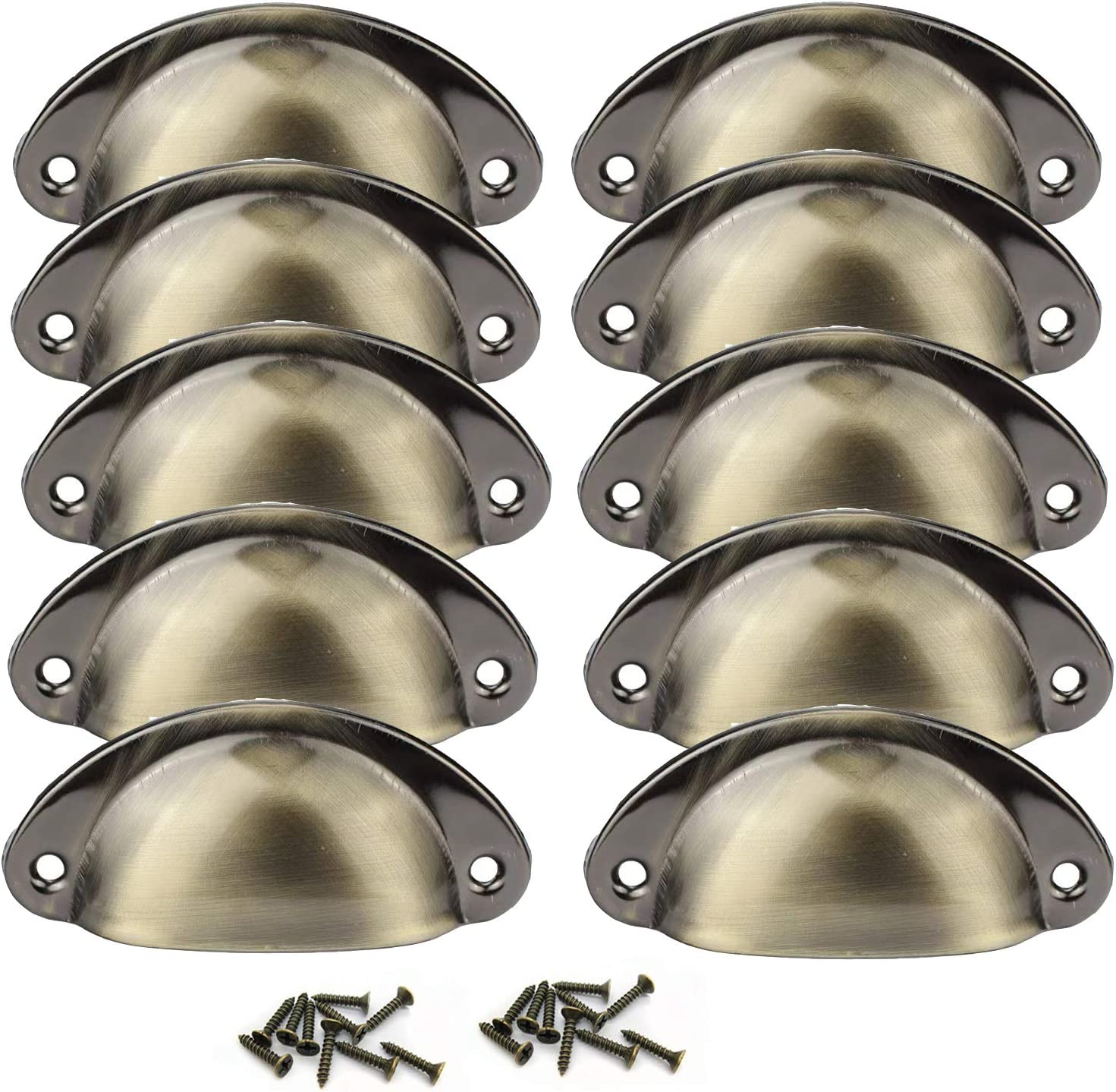 Cabinet Bin Cup Drawer Pull-10 Pack Hardware Handle Pull,2.5