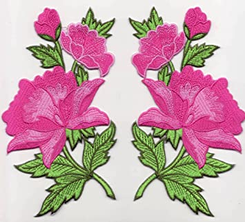Badge Badge Badge Applique Ecusson Pour Brode Broderie Broderie Broderie Broderie Fleur Thermocollant Patch Pw55qAf