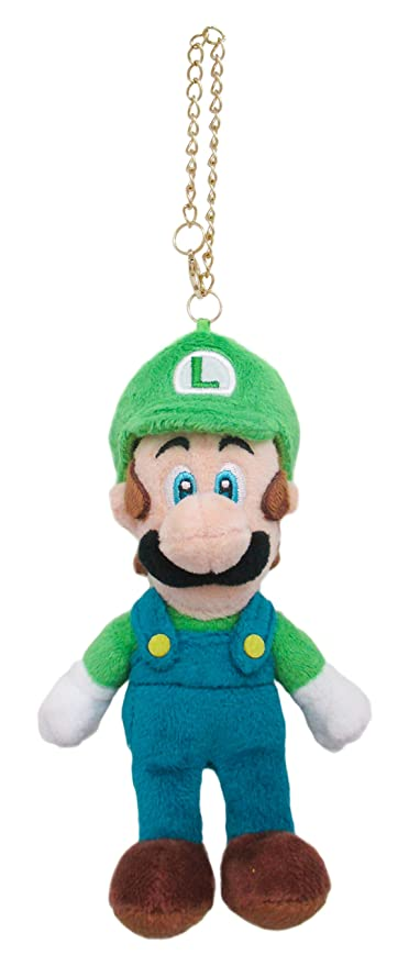 Amazon.com  Super Mario Bros Plush Doll Luigi with key chain MM02 ... 1d1b8ffe9