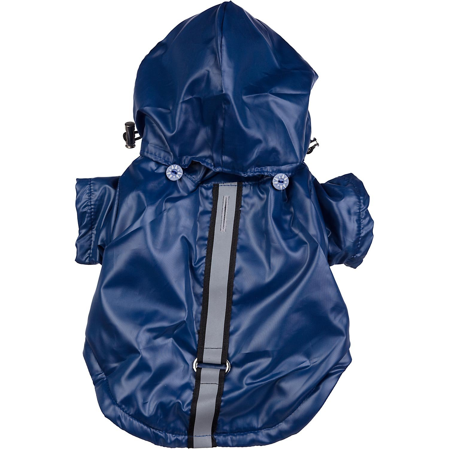 Pet Life Reflecta-Sport' Fashion Insulated Adjustable and Reflective Windproof Water-Resistant Pet Dog Coat Jacket Rainbreaker w/Removable Hood, Small, Dark Blue by Pet Life (Image #2)