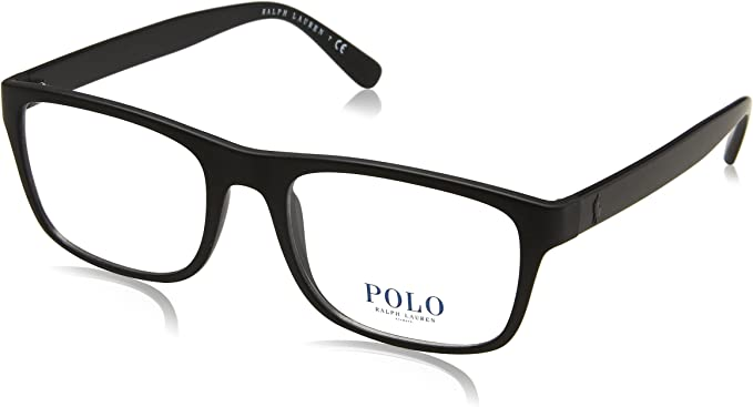 Ralph Lauren POLO 0PH2161 Monturas de gafas, Matte Black, 55 para ...