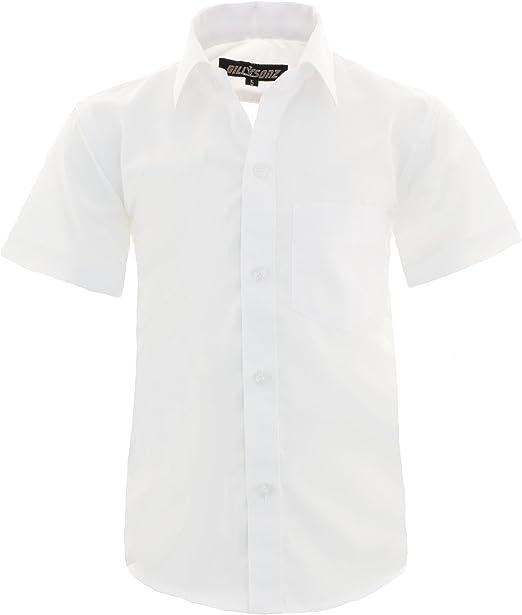 GILLSONZ A0 Camisa de fiesta para niños, fácil planchado, manga corta con 9 colores, talla 86 – 158: Amazon.es: Ropa y accesorios