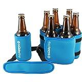 StubbyStrip Premium Portable Insulated Drink Carrier Neoprene 1-7 Bottle or Can Holder, Light Blue