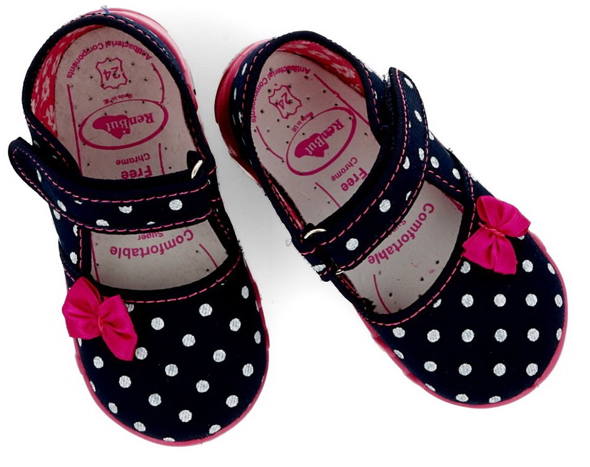 Girls canvas shoes slippers sandals baby kids toddler (Navy Dots 2, 5UK /  22EU - 14cm): Amazon.co.uk: Baby