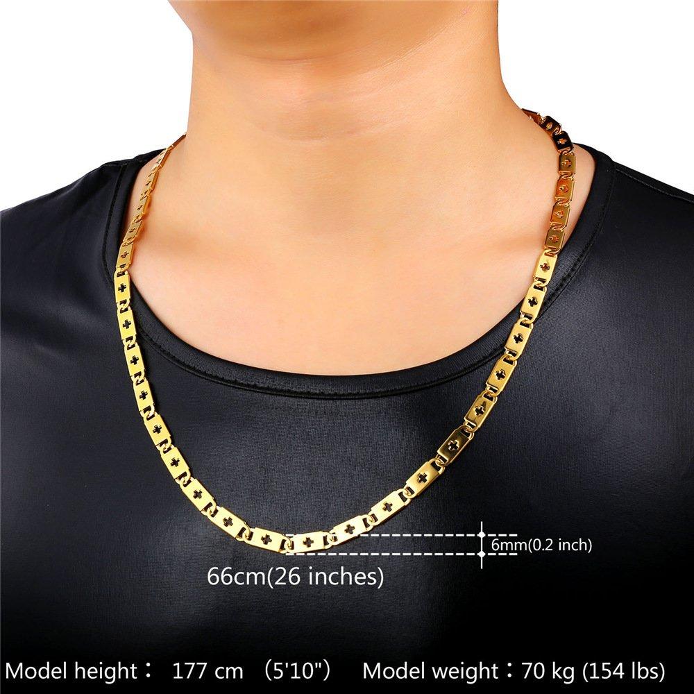 U7 Cross Locks Chain Necklace For Men