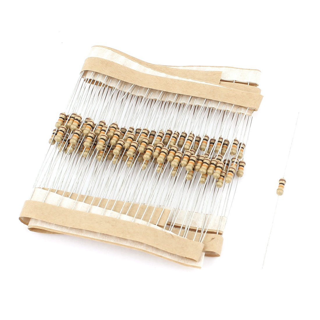 100pcs 1//4 Watt 18K Ohm Resistance Electrical Carbon Film Resistor uxcell US-SA-AJD-49812