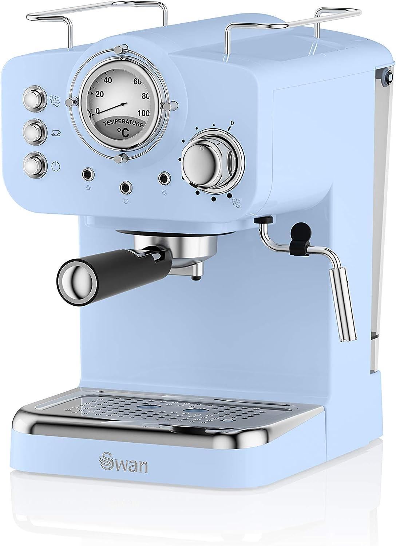 Swan SK22110BLN, Retro Pump Espresso Coffee Machine, 15 Bars of ...