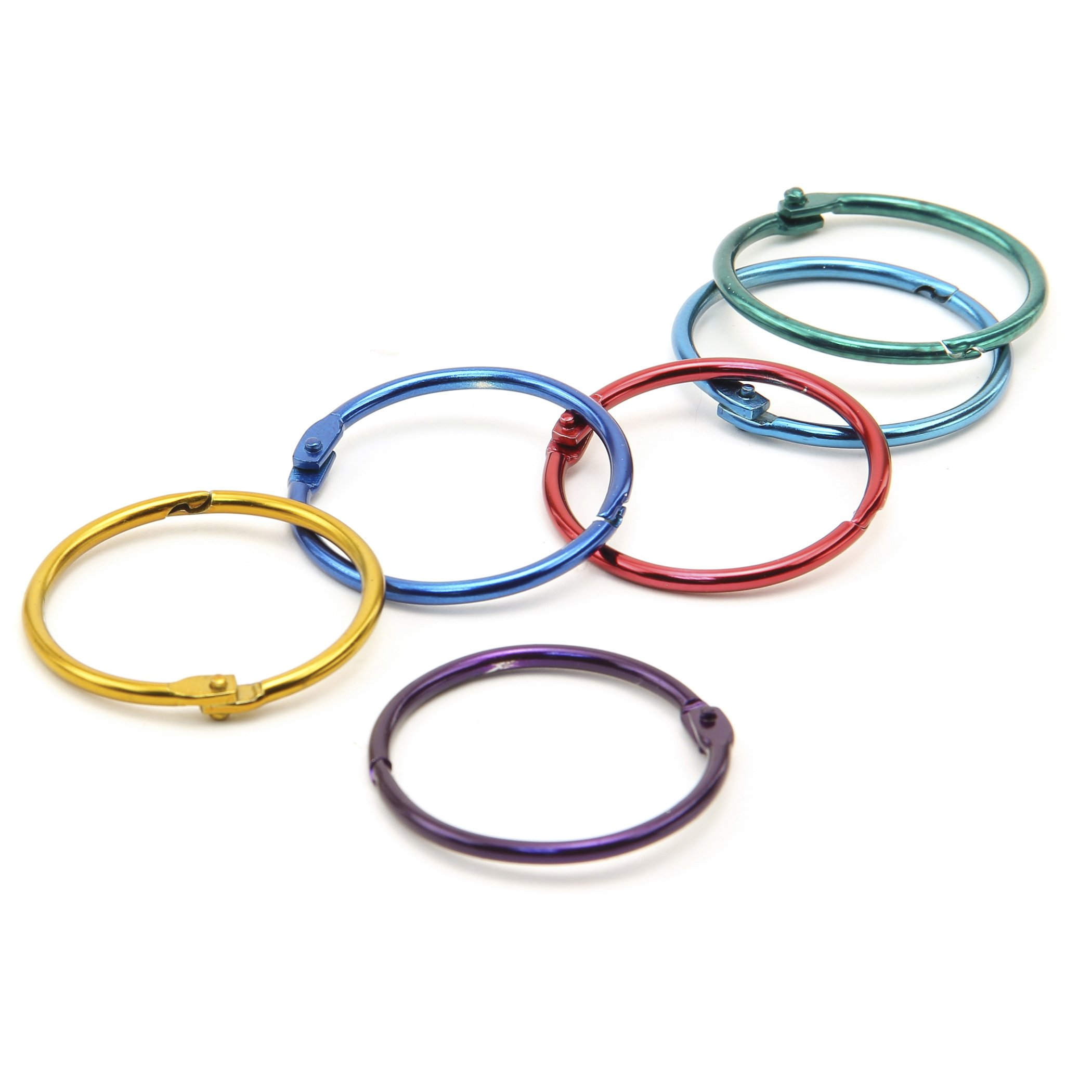 Hygloss Products HYG61353BN Book Rings, Grade 1:8'' Height, 4'' Wide, 5.9'' Length (Pack of 100)