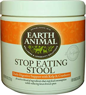 product image for Earth Animal Stop Eating Stool Dog and Cat Supplement 8 oz