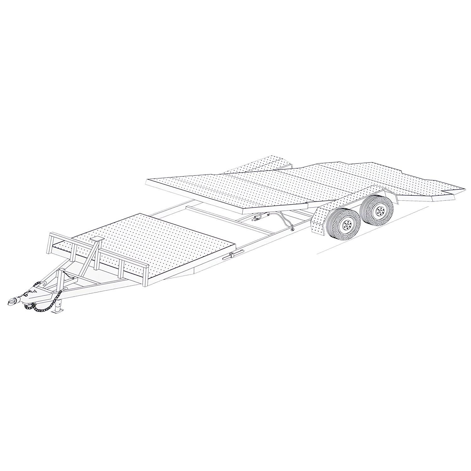24 Gravity Tilt Car Hauler Trailer Plans Blueprints Utility Schematics Model 24gt Automotive