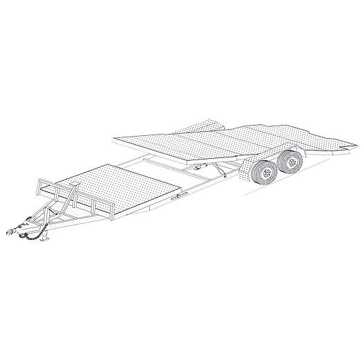 Amazon.com: 24\' Gravity Tilt Car Hauler Trailer Plans Blueprints ...