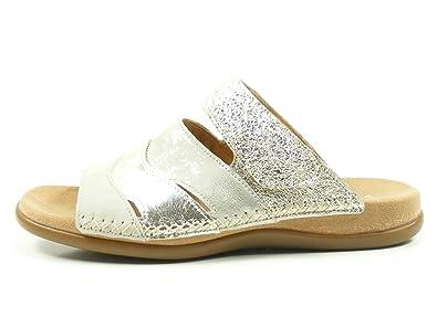 Gabor 83-704 Schuhe Damen Sandalen Best Fitting Pantoletten, Schuhgröße:40, Farbe:Blau
